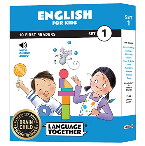 English for Kids: 10 First Reader Books with Online Audio, Set 1 by Language Together
