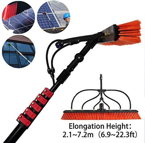 Fensterreinigungsstange/Photovoltaik-Paneel-Reinigung, mit Wasser versorgte Teleskopbürste, 6-9 m Wasch-Set, Zubehör, Teleskopverlängerung, Reinigungsstange, 9,0 m, 7.2 meters