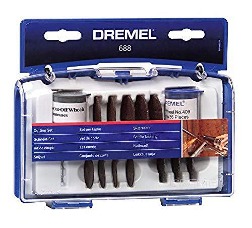 Dremel 688 Mehrzweck Schneide-Set, Zubehörsatz für Multifunktionswerkzeug mit 68 Trennscheiben und 1 Aufspanndorn zum Schleifen und Polieren von Metall, Kunststoff, Stahl, Ziegelstein, Marmor, Kupfer