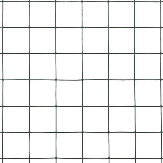 maschendrahtzaun Drahtgitter Stahl mit PVC-Beschichtung Gartenzaun Verschiedene Gr/ö/ßen und Farben Hundezaun Katzenzaun H/ühnerzaun 25 x 0,5 m 25 x 25 mm Quadrat Drahtgeflecht gr/ün