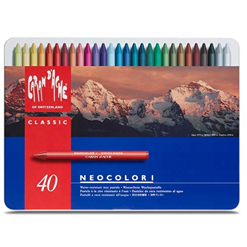 Caran dAche Neocolor Pastels (40 Colors)