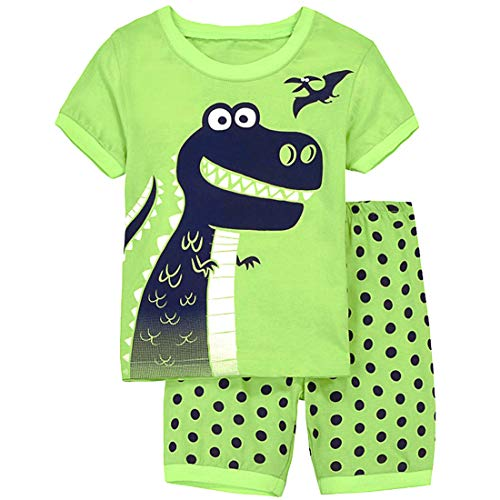 Tarkis Jungen Neuheit Pyjamas Set Cartoon Dinosaurier Nachtwäsche Nachtwäsche Kurzarm Pjs Outfit 92-120 Jahre, 98(Herstellergröße:4T), 1-dinosaurier