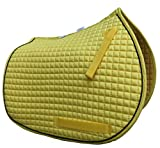 PRI Pacific Rim International All-Purpose English Saddle Pads (Yellow w/Black Trim)