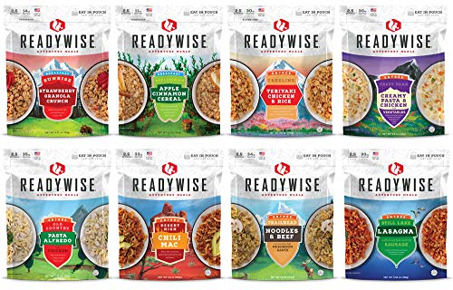 ReadyWise Camping Favorites Cook-in-Pouch Freeze Dried Food Kit - Great for Backpacking and Hiking