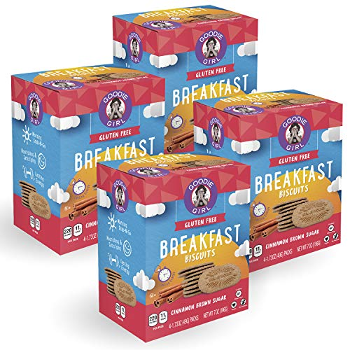 Goodie Girl, Cinnamon Brown Sugar Breakfast Biscuits | Snack Packs | Gluten Fee | Vegan | Peanut Free | Kosher | 16 Packs Total