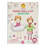 Tiger Tribe- Paper Dolls Kit/Vintage Kits de Acuarelas, Multicolor (3760220)