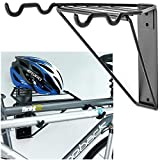 Gr8 Home Wall Mounted Folding 2 Bike Bicycle Cycle Storage Mount Rack Double