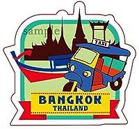 海外旅行観光地ステッカー バンコク タイ王国 防水紙シール スーツケース・タブレットPC・スケボー・マイカーのドレスアップ・カスタマイズに