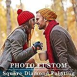 Kit de pintura de diamante personalizado Foto privada personalizada 24D kits de pintura de diamante para adultos Taladro completo DIY Rhinestone Diamond Arts Bordado Fotos Regalos de artesanía