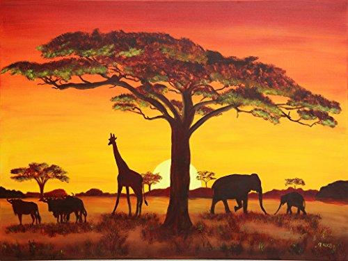 Lais Puzzle Tramonto con Animali africani 1000 Pezzi