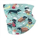 Pañuelo para perros calientes y limonada con fondo de salchicha salchicha para perros salchicha y pasamontañas, para la cabeza, multifuncional, para deportes al aire libre