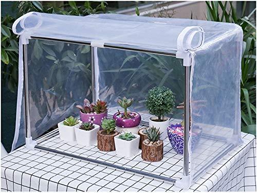 Bureze Bonsai - Tienda de campaña para jardín con diseño de Flores y Plantas suculentas para Mantener el Crecimiento cálido, para Invierno, Invernadero, anticongelante, a Prueba de Viento: Amazon.es: Jardín