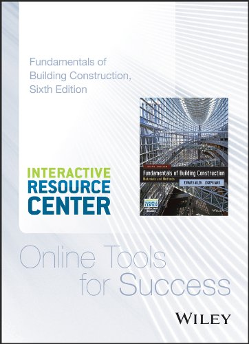 Fundamentals of Building Construction: Materials and Methods, 6e Interactive Resource Center Access Card