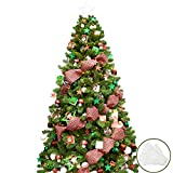 KI Store 7ft Artificial Christmas Tree with Ornaments and Lights White Christmas Decorations Including 7 Feet Full Tree, 135pcs Ornaments, 2 pcs 59ft USB Mini LED String Lights