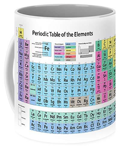Lplpol Tasse mit Periodensystem der Elemente, für Kaffee und Tee, 325 ml