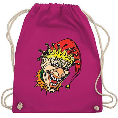 Shirtracer Karneval & Fasching - Clown - Joker - Unisize - Fuchsia WM110 - Turnbeutel und Stoffbeutel aus Baumwolle