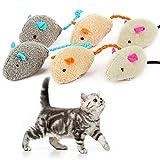 6 Piezas de Juguetes con Hierba gatera, Ratones, Juguetes para Gatos, interactivos para Gatos de Interior, Gatito