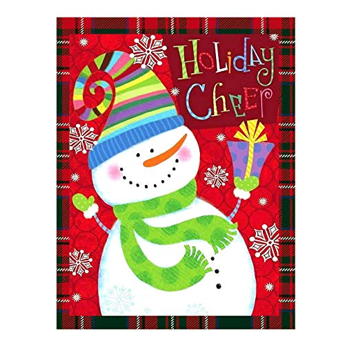 """Funny Snowman Snowflake Let It Double Sided Garden Yard Flag 12"""" x 18"""", Welcome Winter Christmas Holiday Cheer Decorative Garden Flag Banner for Outdoor Home Decor Party"""
