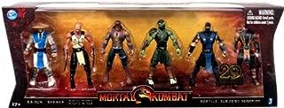 Mortal Kombat 20th Anniversary 5 Inch Action Figure 6-Pack Raiden, Baraka, Night Wolf, Reptile Sub-Zero & Scorpion