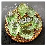 WANGJBH Piedras Piedras de Cadena de Roca de Cristal de Cuarzo Verde Natural para el Acuario del Tanque de Pescado Decoración del jardín del Acuario Gemas (Size : 60-70G)