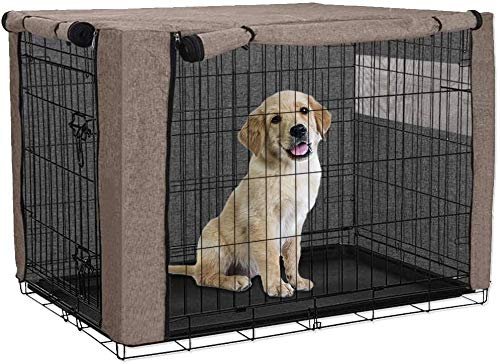 HANSHI Funda para cajón de perro, cubierta ventilada para perrera de mascotas,...
