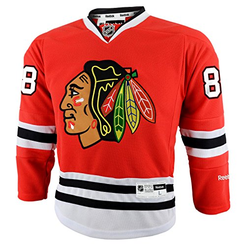 Reebok Patrick Kane Chicago Blackhawks NHL Youth Kinder Premier Jersey Trikot - Red