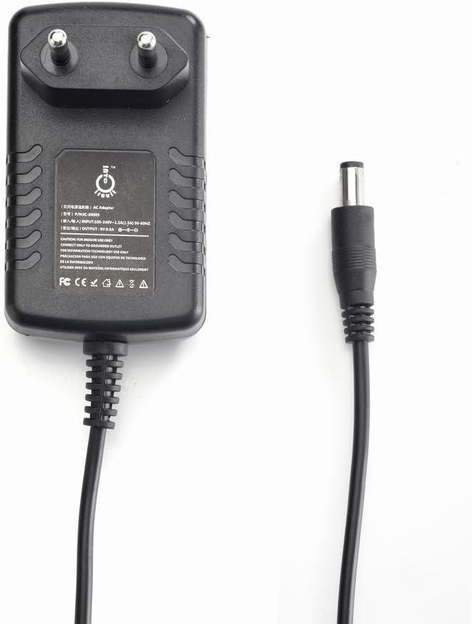 IntoCircuit - Adaptador de alimentación portátil para Bosch AC-2, AC-3, AD-3, BR-532, BR-864, DC-3, DB-90, DR-3, DR-5 y otros 0,5 A, 5,5 x 2,1 mm