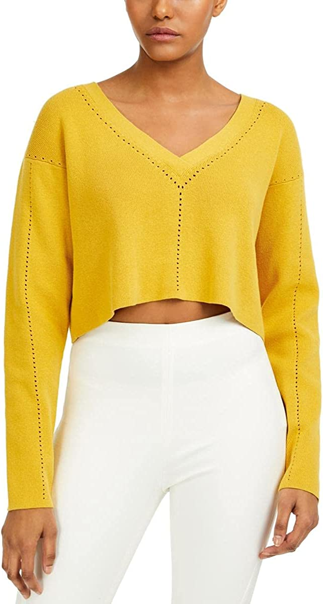 French Connection Womens Ribbed Crop Sweater