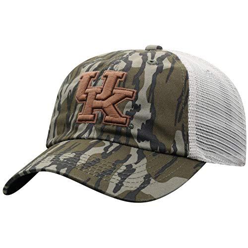 Mossy Oak Kentucky Wildcats Men's Mossy Oak Bottomland Original Camo College Offroad Adjustable Mesh Hat, Adjustable