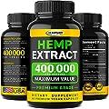 Hempship Hemp Oil Capsules 400,000 - Immune Support and Energy Booster - Made in USA - Omega 3-6-9 - Non GMO - 60 Vegan Capsules