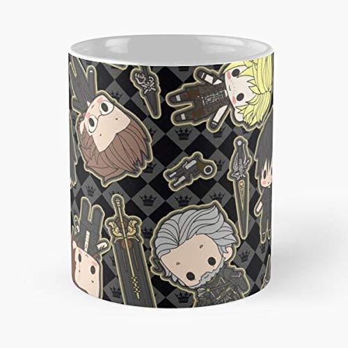 Xv Ffxv Cute Chocobros Final Fantasy Chibi Chocobro Best 11 Ounce Ceramic Coffee Mug Best 11 oz Kaffeebecher - Nespresso Tassen Kaffee Motive !