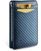 Zitahli Minimalist Slim Bifold Front Pocket Wallet with Money Clip for men,Effective RFID Blocking & Smart Design