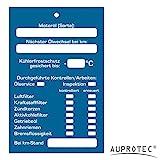 AUPROTEC Kundendienst Anhänger Serviceanhänger Werkstatt Spiegelanhänger Auswahl: 100 Stück, Anhänger Inspektionsanhänger
