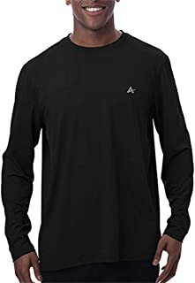 Arctic Cool Men's Crew Neck Instant Cooling Moisture Wicking Performance UPF 50+ Long Sleeve Sun Protection Shirt