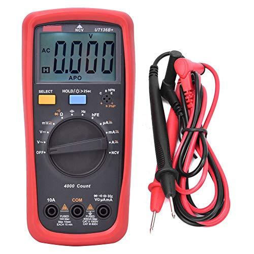 Multímetro UT136B + multímetro de alta tensión corriente métrica de prueba de diodo NCV gama automática de alta precisión