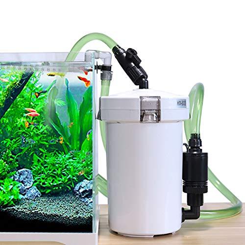 MorNon 400L/H Aquarium Außenfilter Pumpe Aquariumfilter mit Biochemische Filtermaterial