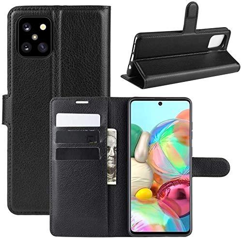 Capa Capinha Carteira 360 Para Samsung Galaxy Note 10 Lite com Tela de 6.7Polegadas Case Couro Flip Wallet - Danet (Preto)