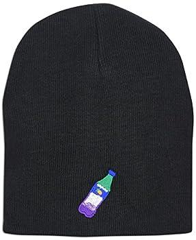Lean Codeine Emoji Memes Embroidered Unisex Knit Winter Hat Beanie  Black