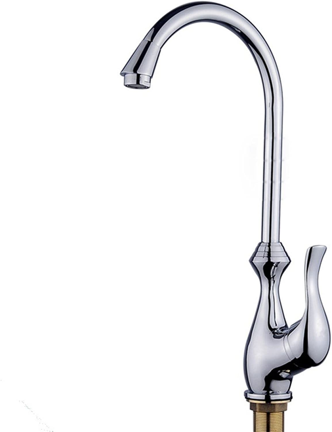 Hlluya Professional Sink Mixer Tap Kitchen Faucet All Copper Single Handle kitchen faucet, cold-hot tank Mixing Faucet