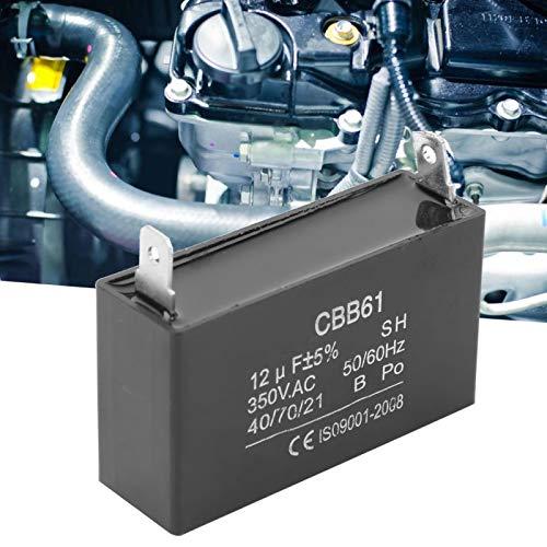 QIRG Condensador, Conveniente Condensador práctico Compacto de 350 V, portátil Universal para Motor de Ventilador de Arranque del generador de Gasolina