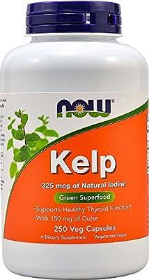 NOW Foods - Kelp Caps Green Superfood 325 mcg. - 250 Vegetarian Capsules from NOW Foods