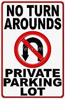 ターンアラウンドなし 金属板ブリキ看板警告サイン注意サイン表示パネル情報サイン金属安全サイン