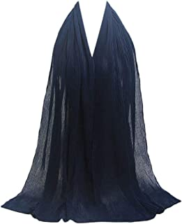 7056e503e6 Scarfs for women Hot Sale,deatu Clearance Ladies Pleated Wrinkled Cotton  and Linen Shawl Soft