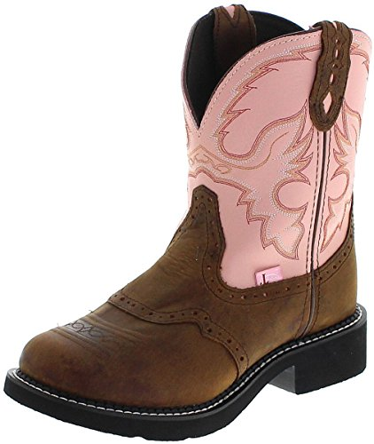 Justin Boots Damen Cowboy Stiefel L9901 Apache Westernreitstiefel Lederstiefel Braun 36.5 EU