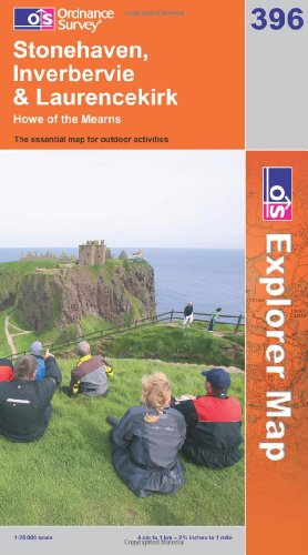 OS Explorer map 396 : Stonehaven, Inverbervie & Laurencekirk