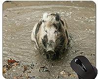 動物アートマウスパッド、イノシシ豚ゲームマウスパッドの新年