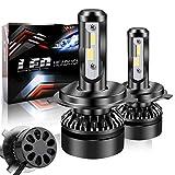 Zmoon LEDヘッドライト h4 車検対応 LEDフォグランプ H4 LEDフォグランプ 高輝度 6500K 10000LM IP65防水 12V 車/バイク用 一体型 LEDチップ搭載 50000時間長寿命 2個セット 一年保証