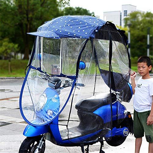 Universal Motorcycle paraplu van de zon Shade Rain Cover, volledig afgesloten Electric Car Umbrella Canopy Waterdicht, Motor Fiets zonneklep Voorruit,C