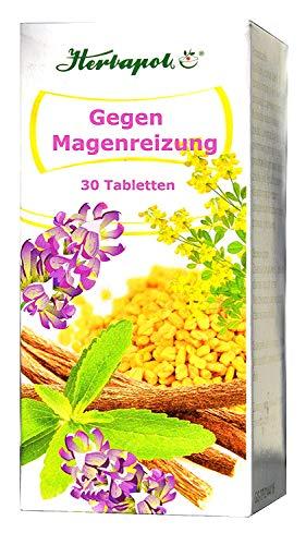 Bei Magenreizung pflanzlich, 30 Tabletten, Bockshornklee und Süßholz, lindern Magenschmerzen, Magenschleimhautreizung, Magenschleimhautentzündung, Gastritis, als Magen schutz,