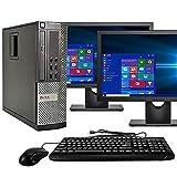 Dell Optiplex 9020 SFF Computer Desktop PC, Intel Core i5 Processor, 16GB Ram, 2TB Hard Drive, WiFi, Bluetooth 4.0, DVD-RW, Dual 24 Inch LCD Monitors Windows 10 Pro (Renewed)